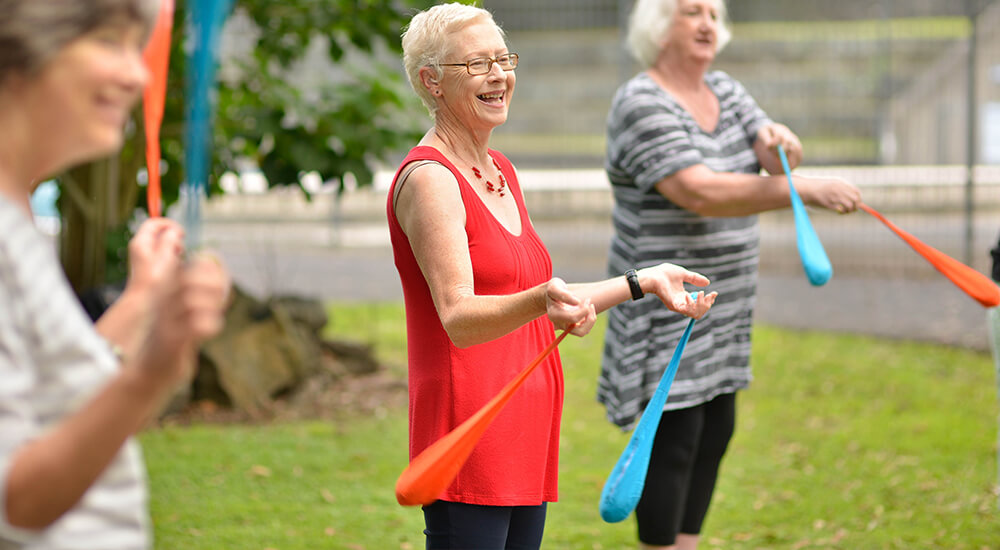 Playing with poi balls can improves quality of life for seniors
